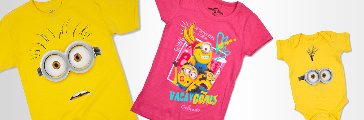 Despicable Me Minion Adult T-Shirt, Minion Vacay Goals Girls T-Shirt, Minion