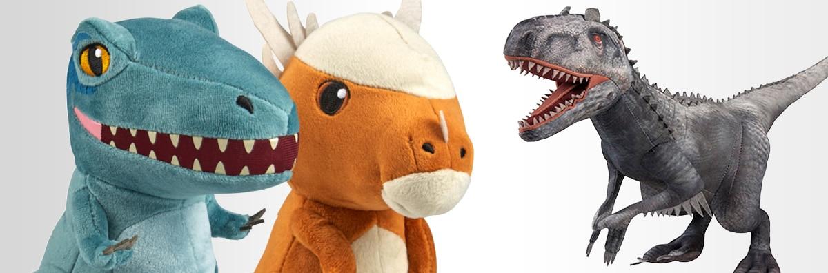 Jurassic World Blue Cutie Plush, T. Rex Cutie Plush, Indominus Rex Plush
