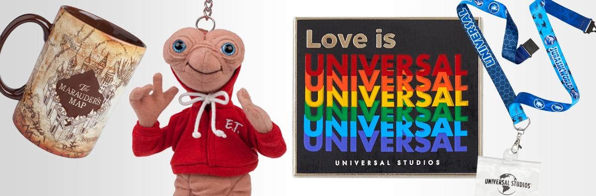 Marauder's Map Mug, E.T. Plush Keychain, Love is Universal Pin, Jurassic World