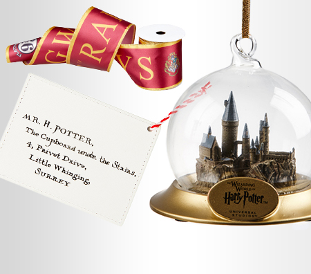 Hogwarts™ Acceptance Letter Ornament, Hogwarts™ Railways Ribbon Garland, Hogwarts™ Castle Ornament