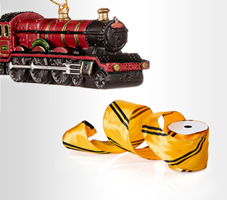 Hogwarts™ Express Ornament, Hufflepuff™ Ribbon Garland