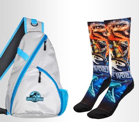 Jurassic World Honeycomb Sling Backpack, Jurassic World Socks