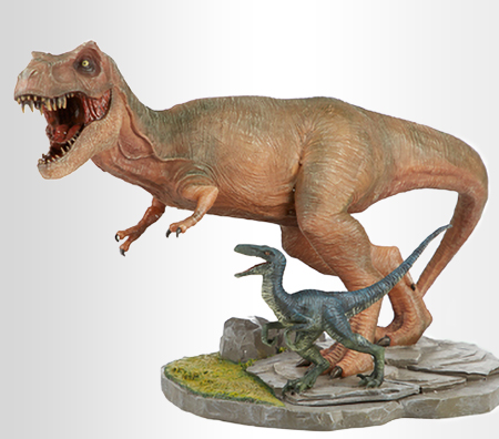 Jurassic World T. Rex with Blue Statue