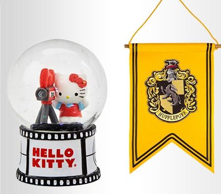 Hello Kitty® Movie Set Miniature Water Globe, Hufflepuff™ Crest Banner