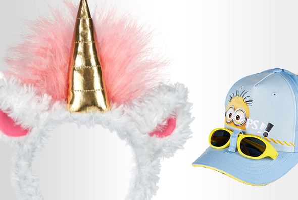 Despicable Me Unicorn Headband, Minion Youth Cap with Sunglasses