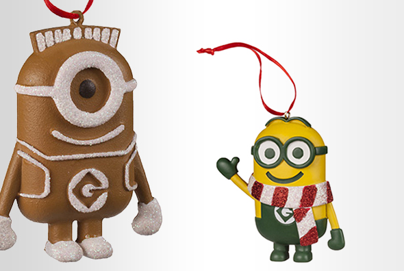 Despicable Me Gingerbread Minion Ornament, Minion Ornament with Striped