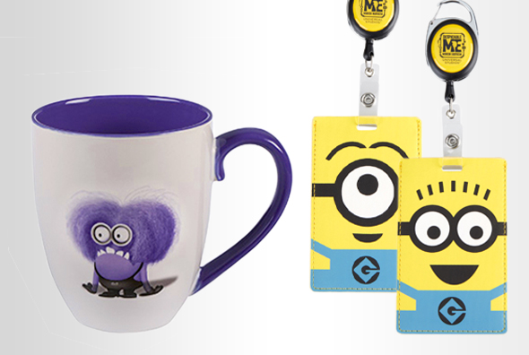 Despicable Me I Don't Do Mornings Mug, 1-Eye and 2-Eye Minion Badge Reels