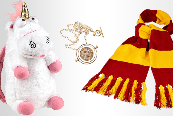 Unicorn Plush Backpack, Time-Turner™ Necklace, Gryffindor™ Striped Scarf