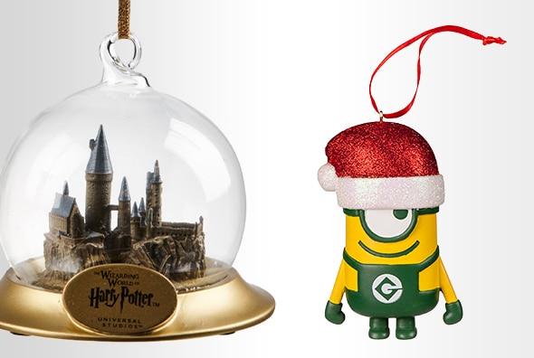 Hogwarts™ Castle Ornament, Minion Ornament with Santa Hat