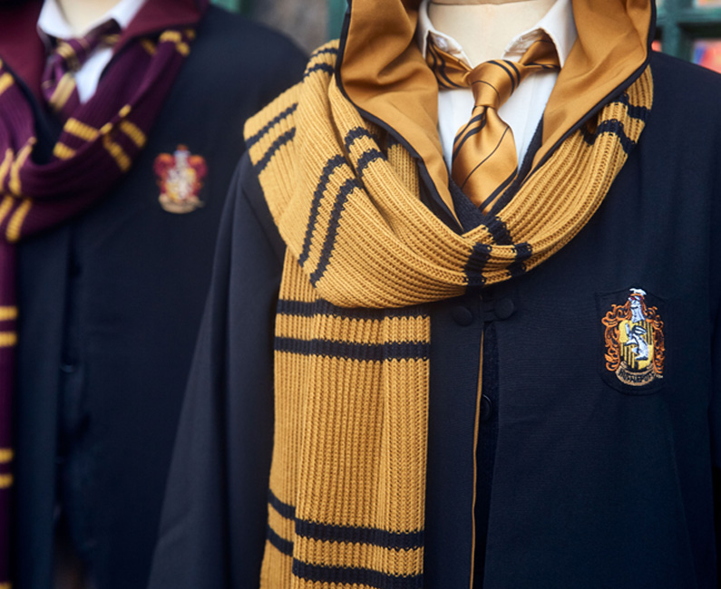 Gryffindor™ Robe with Authentic Scarf and Tie, Hufflepuff™ Robe with Authentic Scarf and Tie