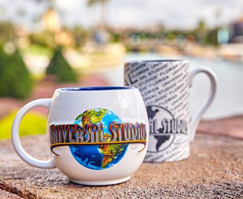 Universal Studios Globe Mug, Universal Studios Florida Beaded Mug