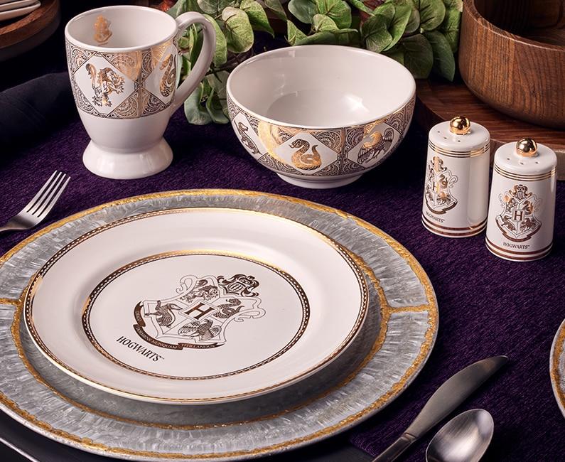 Hogwarts™ Crest Plate, Café Mug, Bowl, and Spice Shakers
