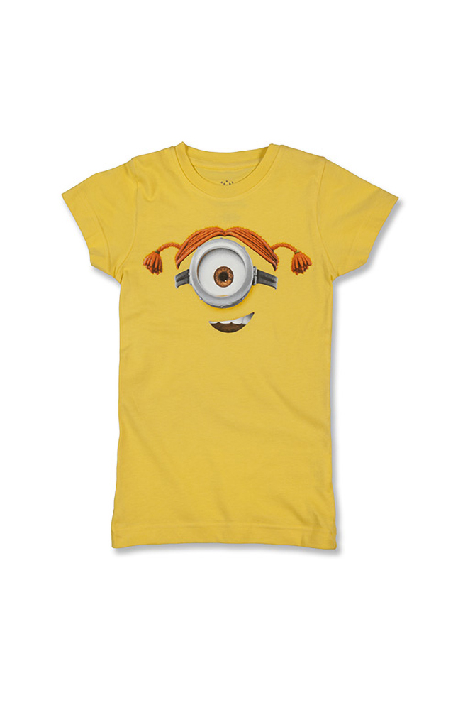 Image for Despicable Me Minion Big Face Girls T-Shirt from UNIVERSAL ORLANDO