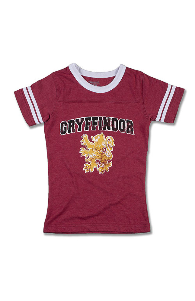 Image for Gryffindor™ Striped Sleeves Girls T-Shirt from UNIVERSAL ORLANDO
