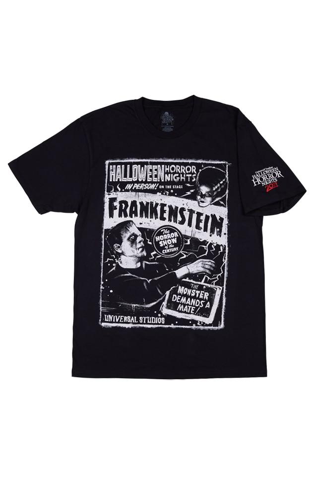 Image for Halloween Horror Nights 2021 Frankenstein Adult T-Shirt from UNIVERSAL ORLANDO