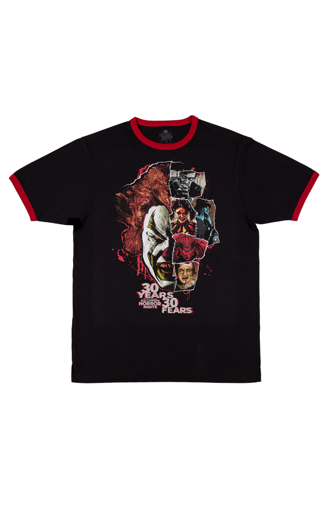 Image for Halloween Horror Nights 2021 Icons Adult Ringer T-Shirt from UNIVERSAL ORLANDO