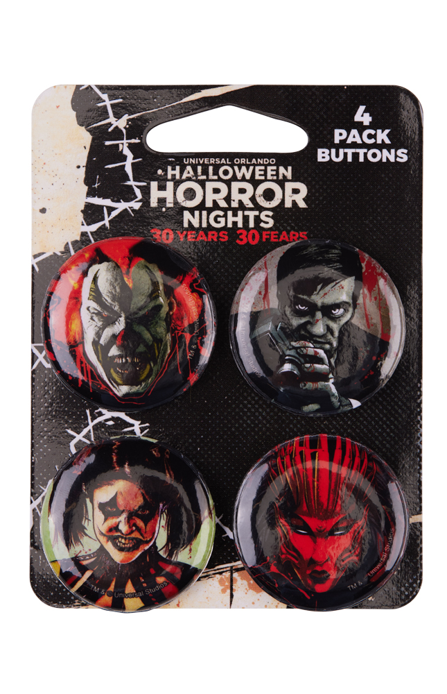 Image for Halloween Horror Nights 2021 Icons Button Set from UNIVERSAL ORLANDO