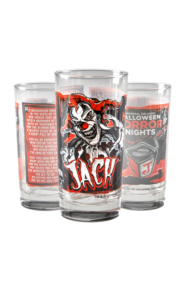 Image for Halloween Horror Nights Jack Collectible Glass from UNIVERSAL ORLANDO