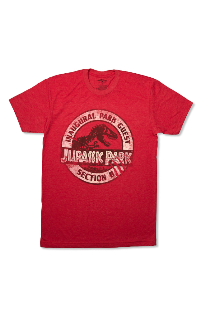 "Image for Jurassic Park ""Inaugural Park Guest"" Adult T-Shirt from UNIVERSAL ORLANDO"