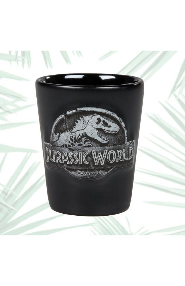 Image for Jurassic World Stone Logo Shot Glass from UNIVERSAL ORLANDO