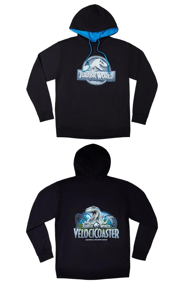 Image for Jurassic World VelociCoaster Adult Hooded Sweatshirt from UNIVERSAL ORLANDO