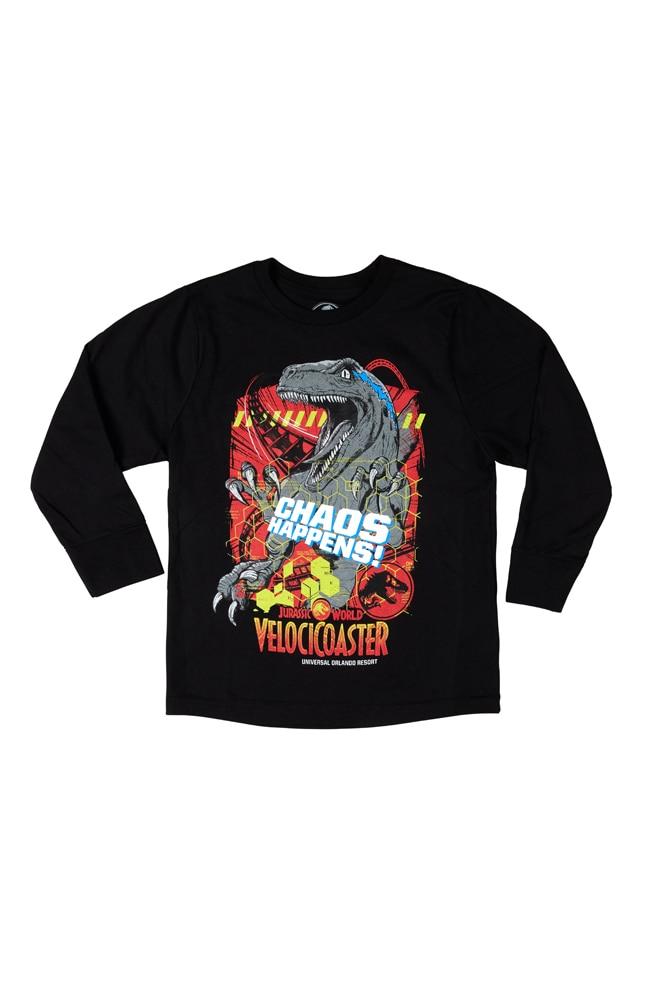 Image for Jurassic World VelociCoaster Youth Long-Sleeve T-Shirt from UNIVERSAL ORLANDO