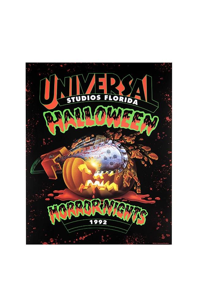 "Image for Retro ""Halloween Horror Nights 1992"" Pumpkin Poster from UNIVERSAL ORLANDO"