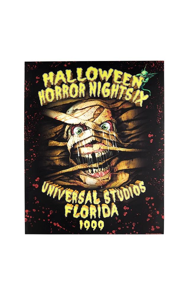 "Image for Retro ""Halloween Horror Nights IX 1999"" Mummy Poster from UNIVERSAL ORLANDO"