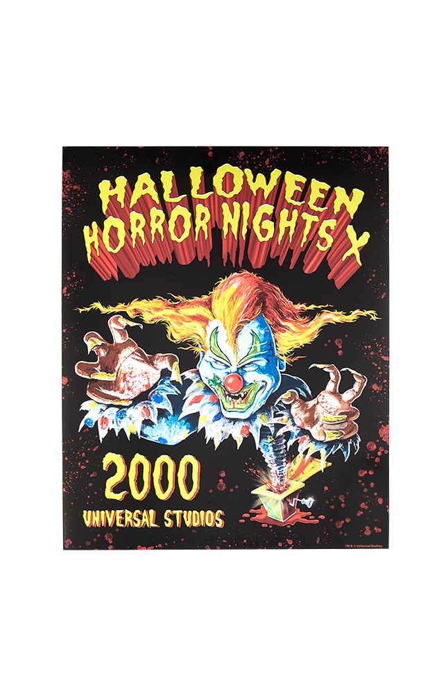 """Image for Retro """"Halloween Horror Nights X 2000"""" Jack Poster from UNIVERSAL ORLANDO"""