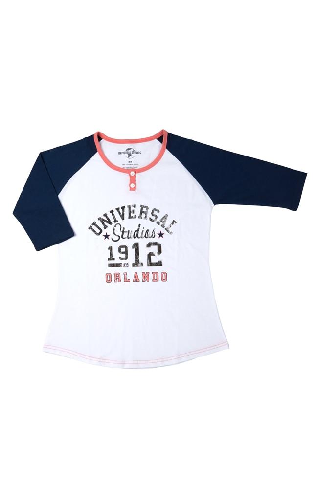 Image for Universal Studios Orlando Ladies Raglan T-Shirt from UNIVERSAL ORLANDO