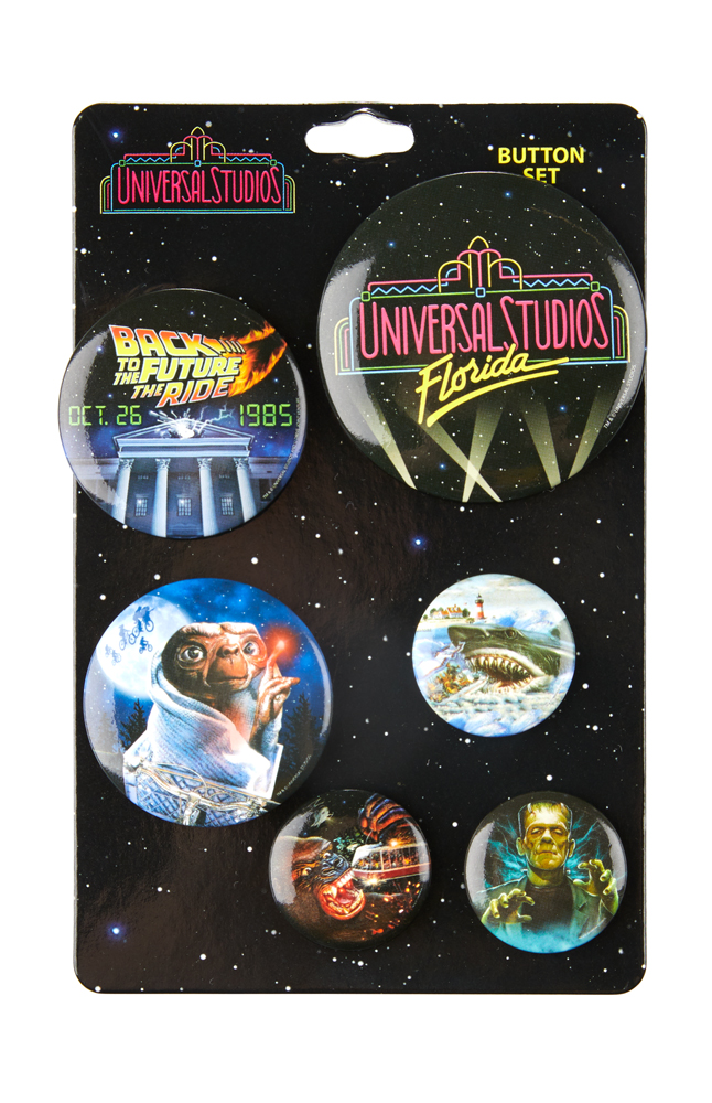 Image for Universal Studios Retro Marquee Button Set from UNIVERSAL ORLANDO