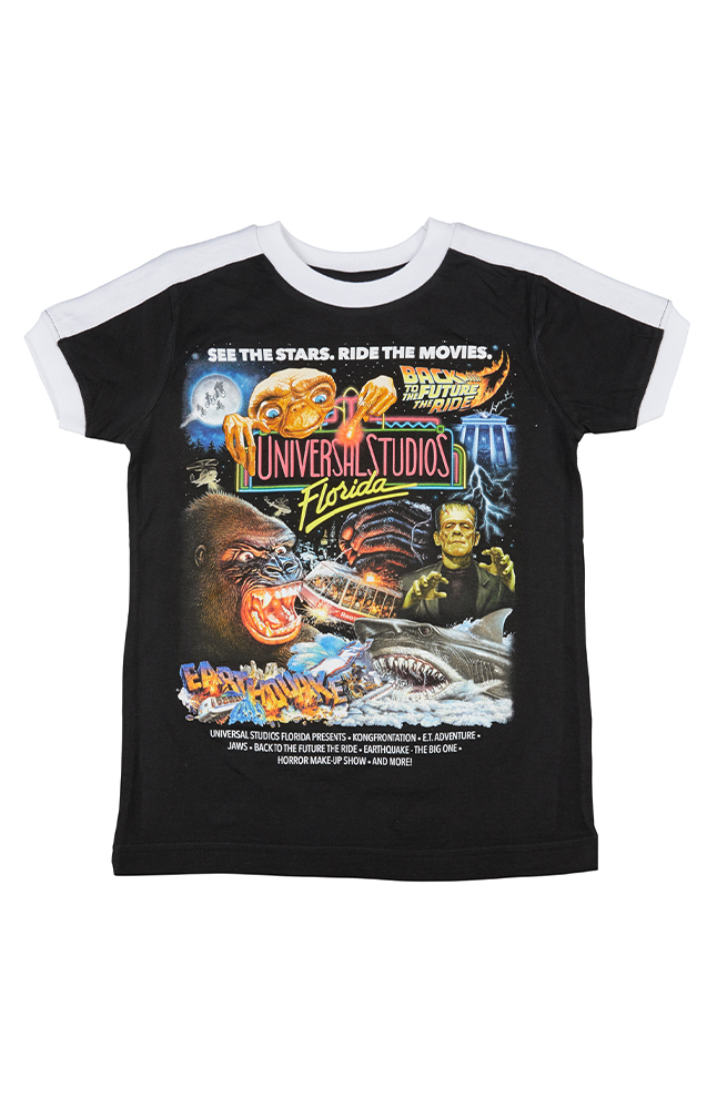 Image for Universal Studios Retro Marquee Youth Ringer T-Shirt from UNIVERSAL ORLANDO