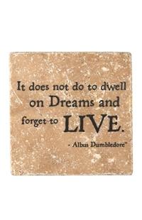 """Albus Dumbledore™ """"Dreams"""" Travertine Coaster"""