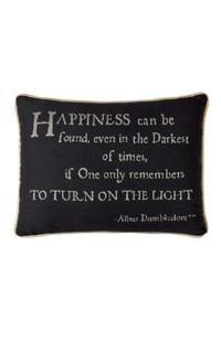 "Albus Dumbledore™ ""Happiness"" Quote Pillow"