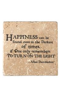 "Albus Dumbledore™ ""Happiness"" Travertine Coaster"