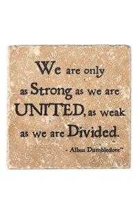 """Albus Dumbledore™ """"United"""" Travertine Coaster"""