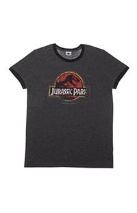 Jurassic Park Logo Adult Ringer T-Shirt