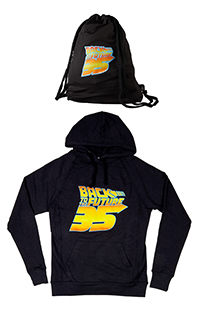 Back To The Future 35th Anniversary Adult Hoodie Backpack