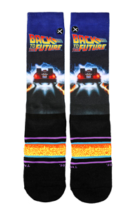 Back To The Future Back In Time Adult Crew Socks
