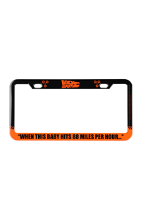Back To The Future License Plate Frame