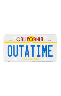 """Back To The Future """"OUTATIME"""" License Plate"""