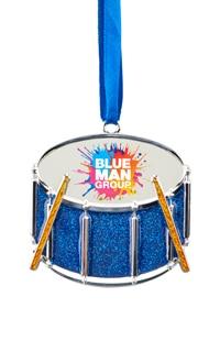Blue Man Group Drum Metal Ornament