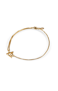 Deathly Hallows™ 14kt Gold Plate Chain Bracelet by Alex and Ani®
