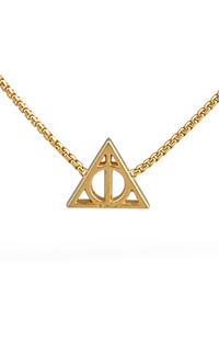 Deathly Hallows™ 14kt Gold Plate Chain Necklace by Alex and Ani®