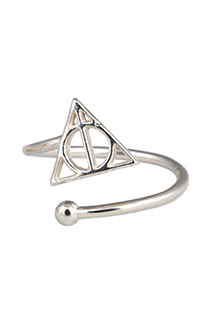Deathly Hallows™ Sterling Silver Ring Wrap by Alex and Ani®
