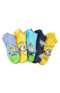 Despicable Me 5-Pack Adult Socks