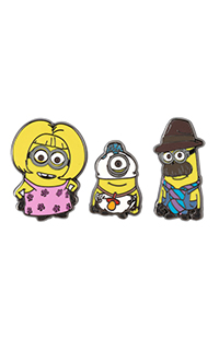 Despicable Me Minion Family Pin Set