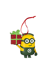 Despicable Me Minion Holding Gift Ornament