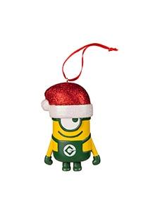 Despicable Me Minion Ornament With Santa Hat