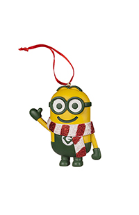 Despicable Me Minion Ornament With Striped Scarf